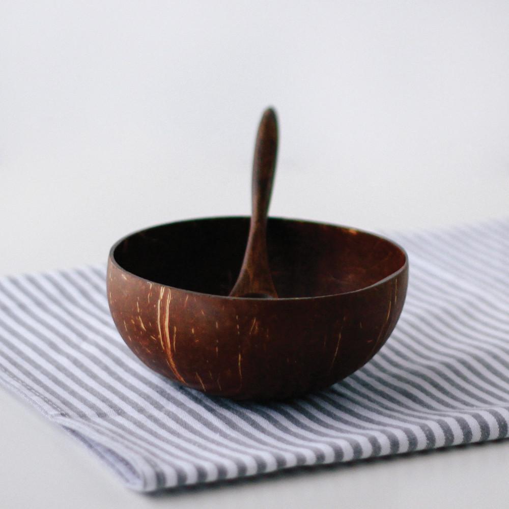 وعاء قشر جوز الهند الطبيعي سموذي زبدية فيقن نباتي نظام فيجن فيجيتريان