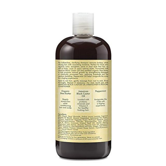 46b6b127d شامبو لطيف من شيا مويستشر (الحجم الكبير) بزيت الخروع الجامايكي الاسود  لتعزيز وترميم الشعر 16.3 اونصه 482 مل - كوينز كير