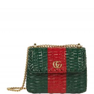 ef2855571 Gucci Mini Web Wicker Shoulder Bag