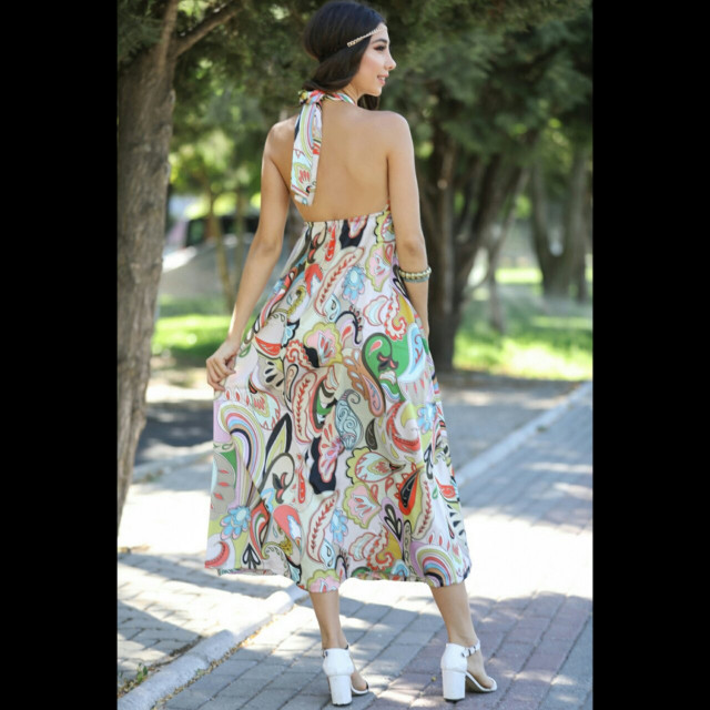4627eb6e4 فستان مكشوف الاكتاف والظهر EC00084 - قطعتي | Qeteati