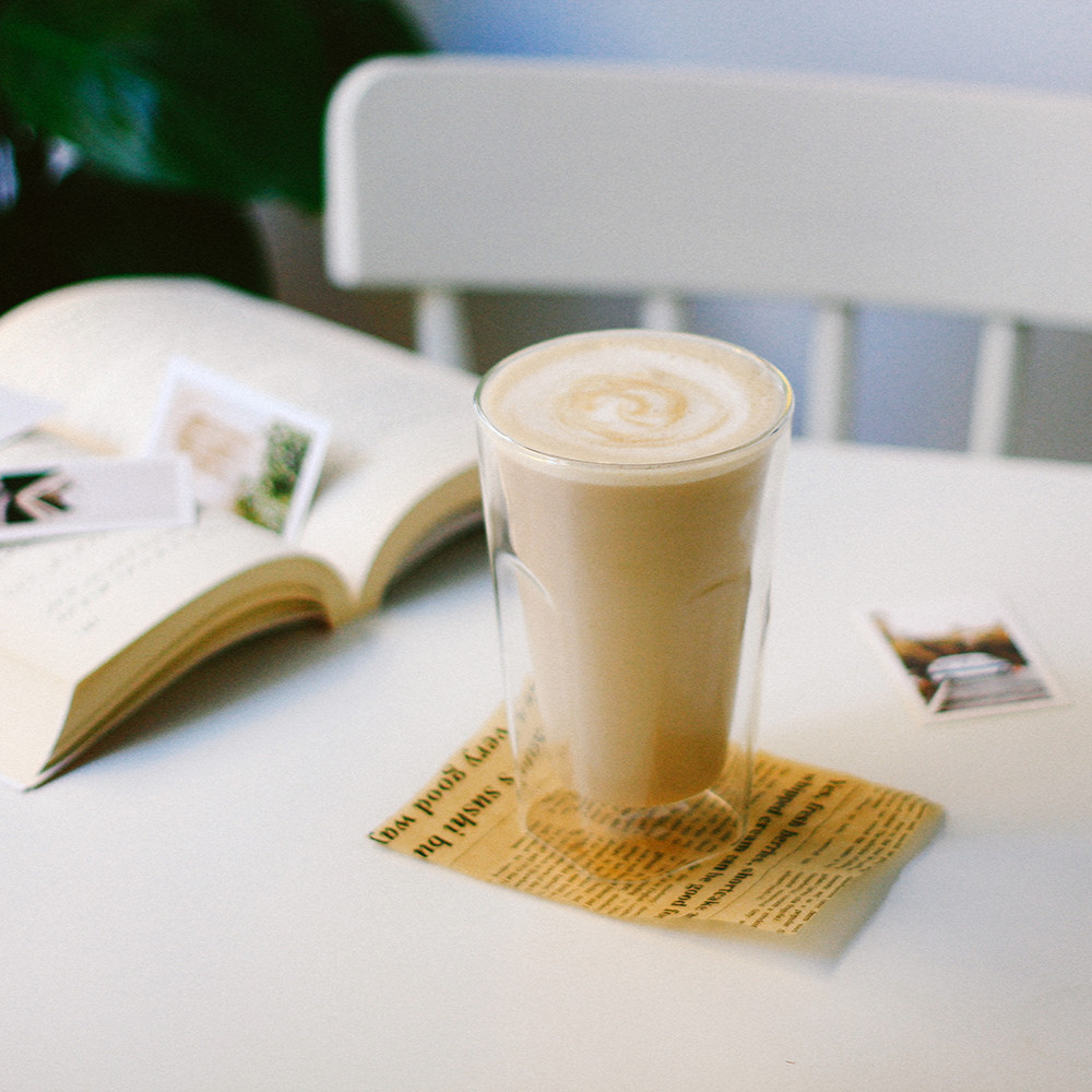 كوب زجاج بطبقة مزدوجة شفاف 450 مل مقاوم للحرارة كوب قهوة كوب عصير كوب