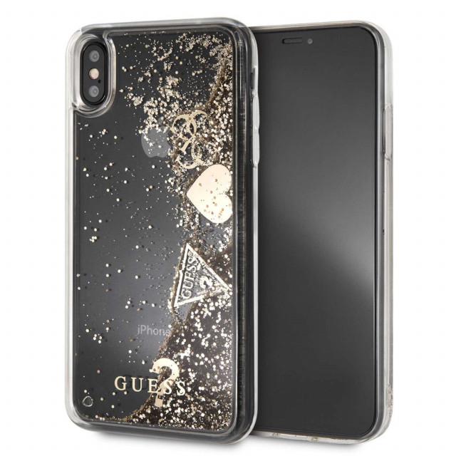 3207dc0d5 Guess Glitter Hard Case ايفون اكس اس ماكس - ذهبي - يونيك زون ...