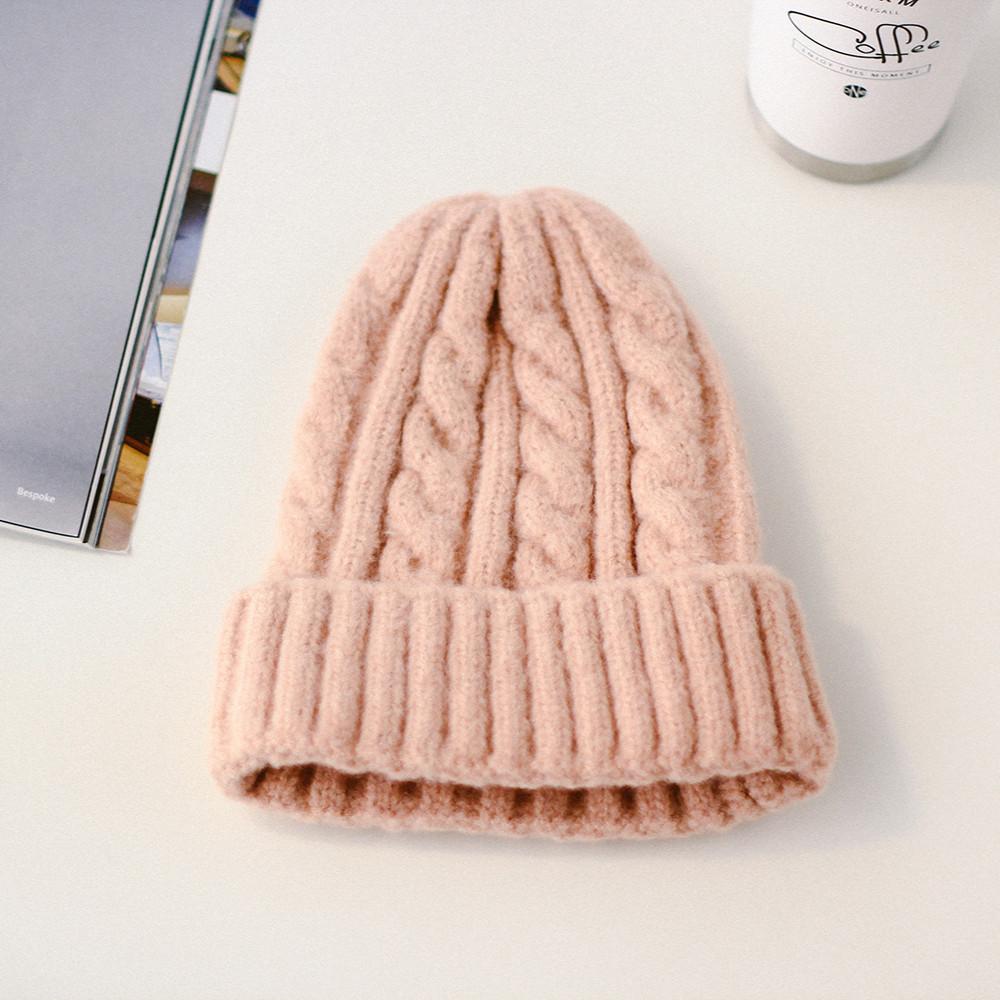 قبعة صوف مع ثنية للرجال والنساء أزياء الشتاء قبعة من الصوف الناعم