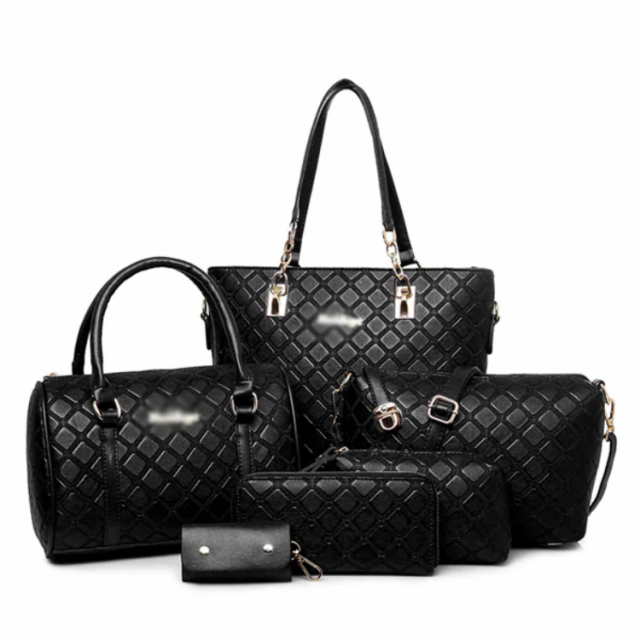 6d70113d4 طقم حقيبة كتف نسائية (6قطع) - بتصميم رائع أنيق | متجر هِزّلْي | HEZALY STORE