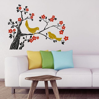 ملصق حائط طيور ذهبية