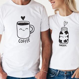 تيشرت القهوة والكريمة