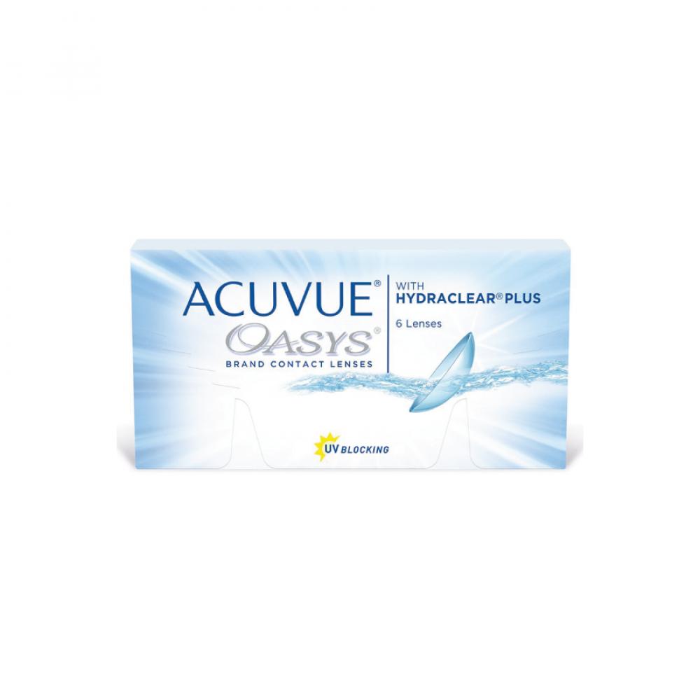 عدسات أكيوفيو أويسس Acuvue oasys lenses طبية شفافة شهرية