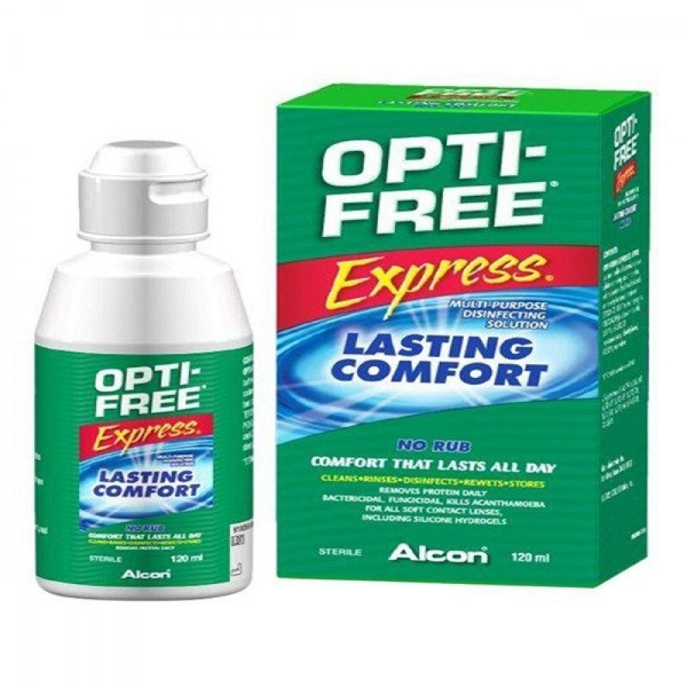 محلول أوبتي فري opti free solution محلول طبي متعدد الأغراض لجميع العدس