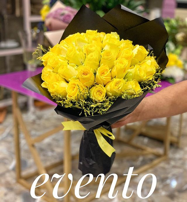 بوكية جوري اصفر عدد 20 ورده زهور ايفنتو
