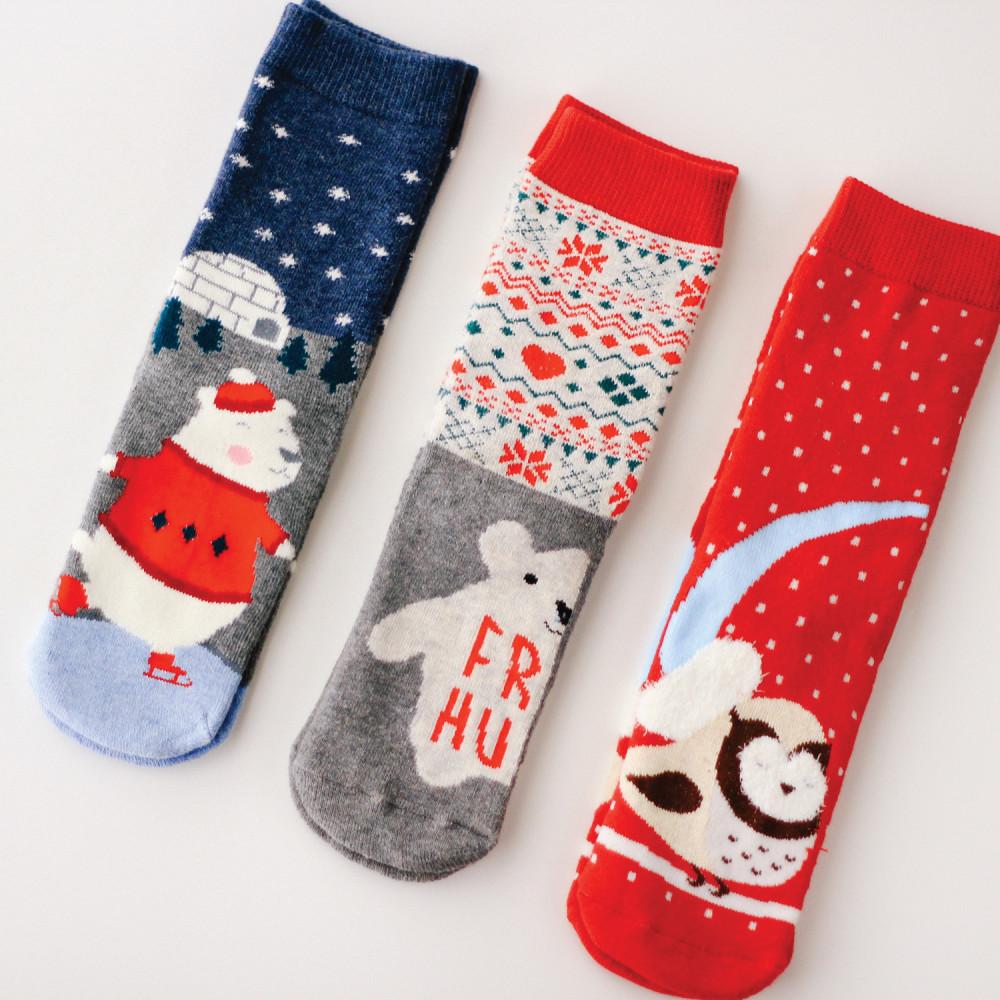 جوارب شتوية نسائية أطفال جوارب سميكة جوارب للشتاء ملابس ثقيلة مخيم