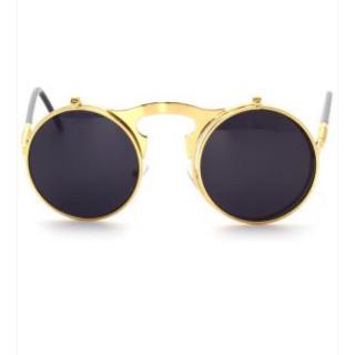 d210981ee ريترو فينتاج نظارات شمسية دائرية باطار س.