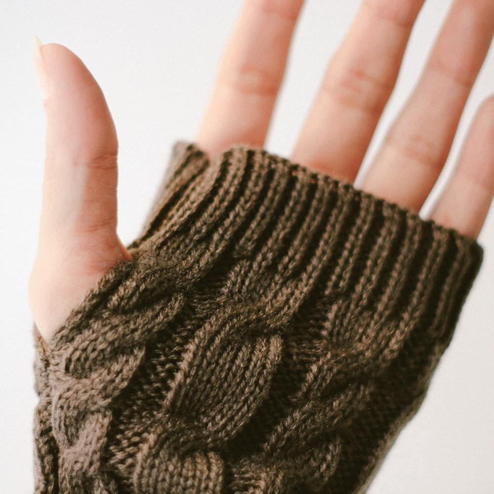 قفازات شتوية نسائية زوجين  باصابع قصيرة قفازات بنات قفازات دافئة