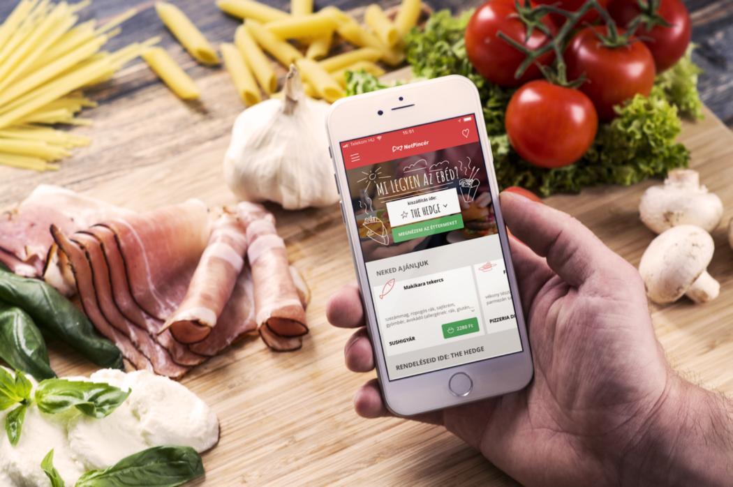 Netpincér food delivery app opening screen