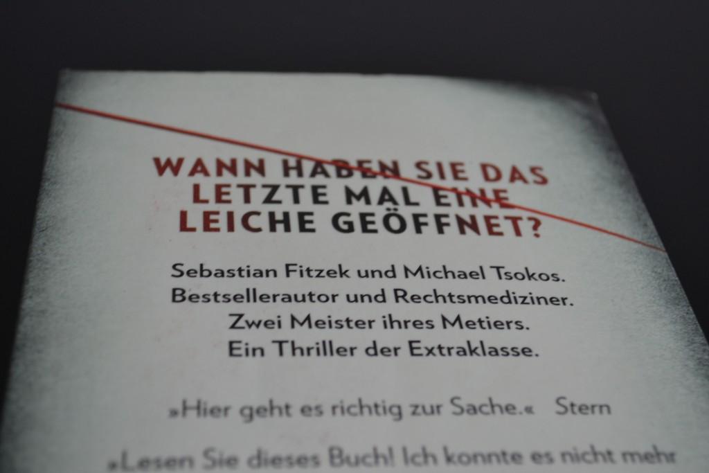 Books: Abgeschnitten | Fitzek & Tsokos - DSC 0566 1024x683