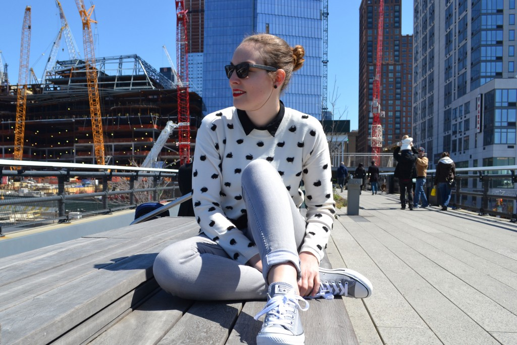 Outfit: Black & White Fringe Dot Pullover // Layering Look - DSC 0039 1024x683