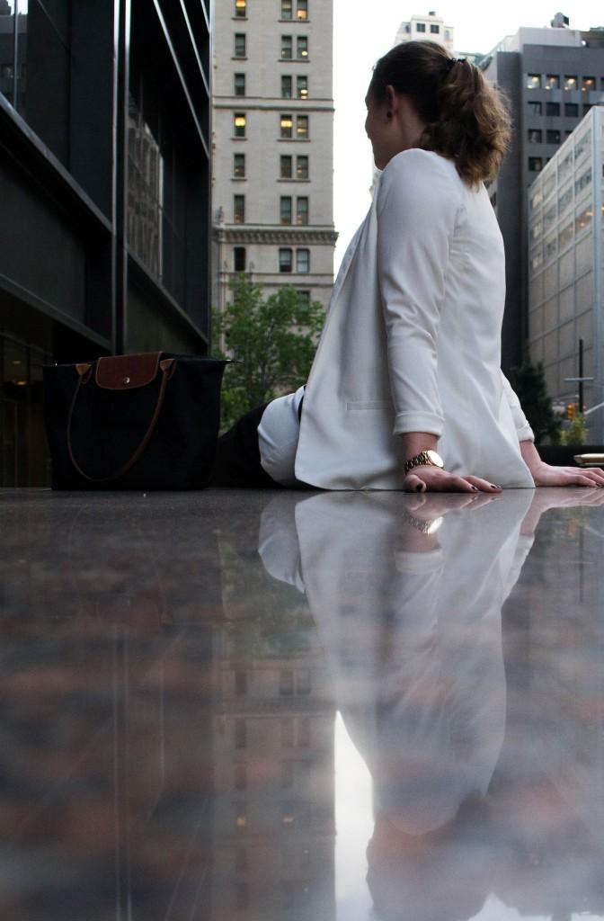 Outfit: Black & White Dress // Metal Toe Cap Heels - Gestreiftes Kleid 5 672x1024