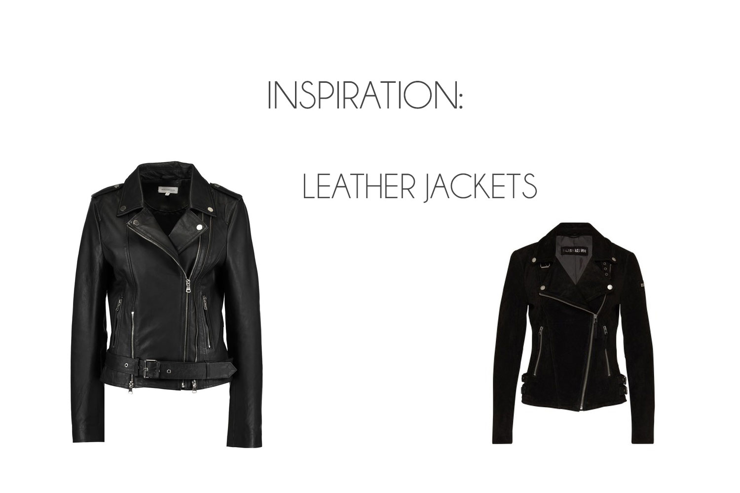 Inspiration: Leather Jackets for Autumn - Leather Jackets
