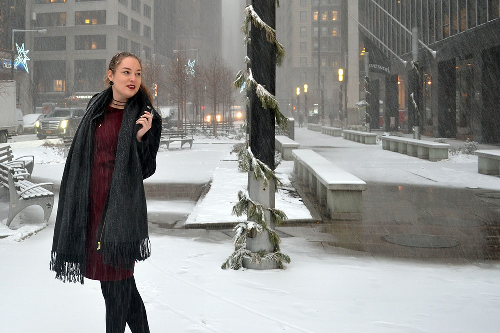 Outfit: Wearing Dresses in Winter - Winterdress 3