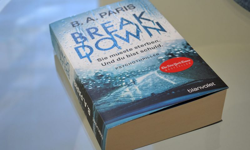 Books: Break Down | B.A. Paris - Break down 800x480