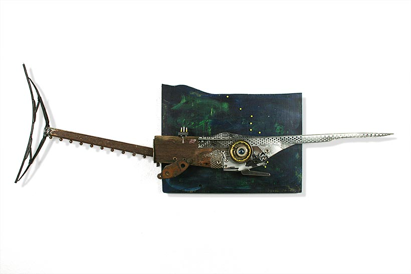 Old Metal SawFish is a Wall Sculpture, Scultura da parete