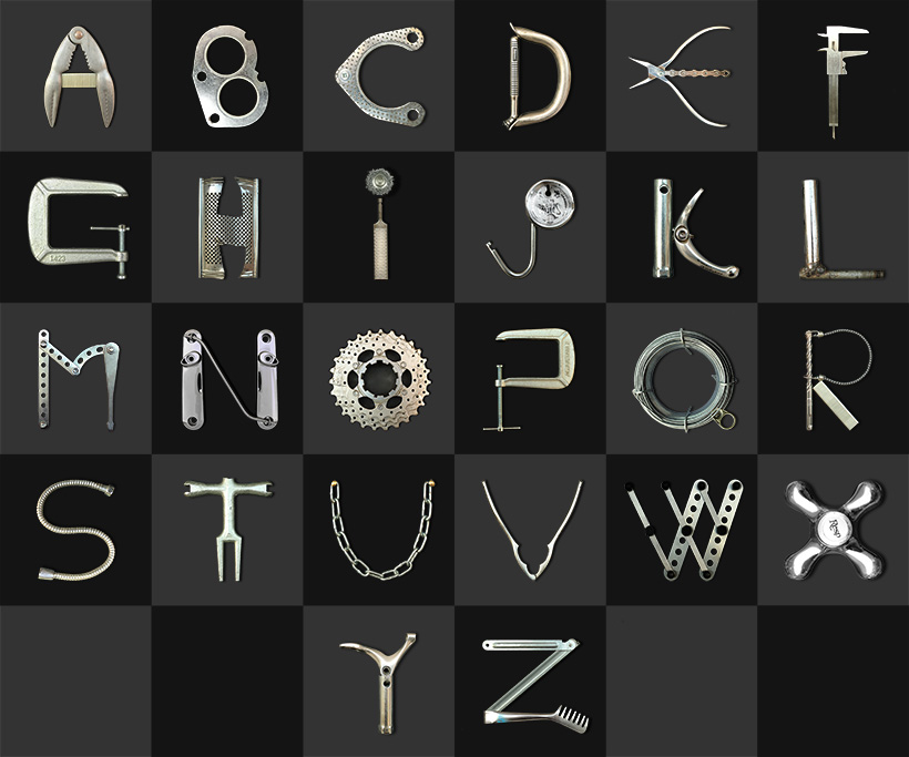 Found Objects Font - Typographic Project