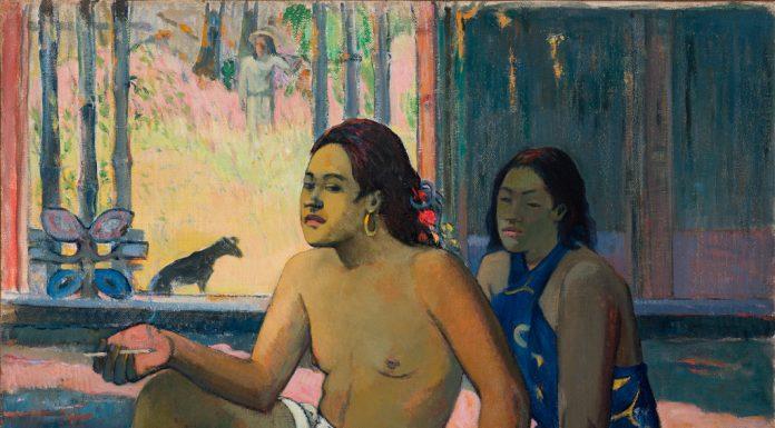 Paul Gauguin Tahitiani in una stanza