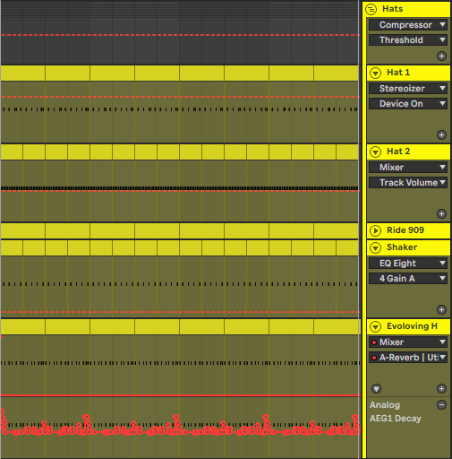Hats & Shaker Automation in Ableton Live 10