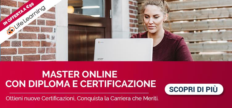 Scegli il tuo Master online e ottieni la certificazione!