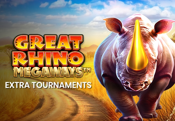 Great Rhino Megaways - early release on SocialTournaments and on Kindred brands online casinos Thumbnail