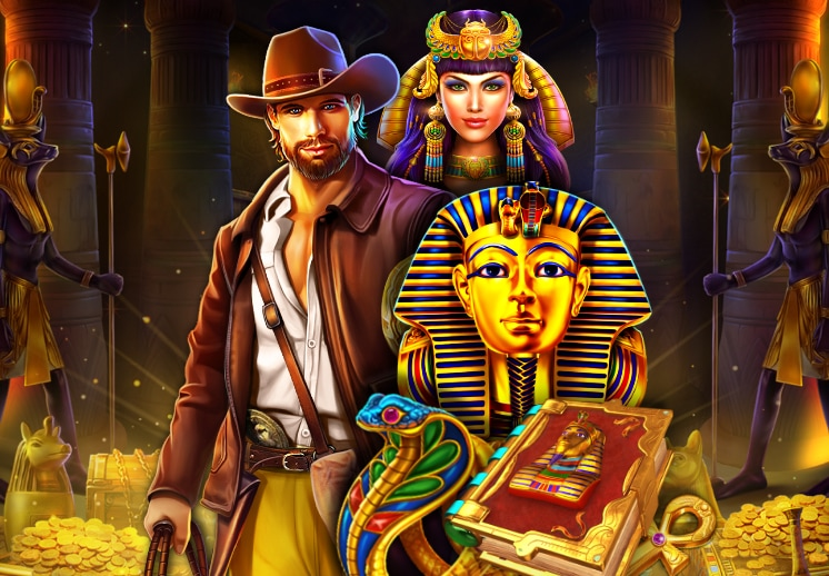 Play Egyptian slots on SocialTournaments now Thumbnail