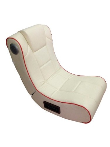 Mod-it Sessel: 2.1-Soundsessel mit Vibration für Gaming & Film, Bluetooth, cremeweiß (Soundchair) - 1
