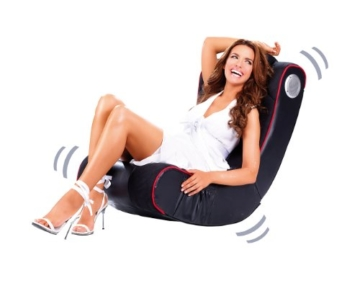 Mod-it Sessel: 2.1-Soundsessel mit Vibration für Gaming & Film, Bluetooth, cremeweiß (Soundchair) - 5