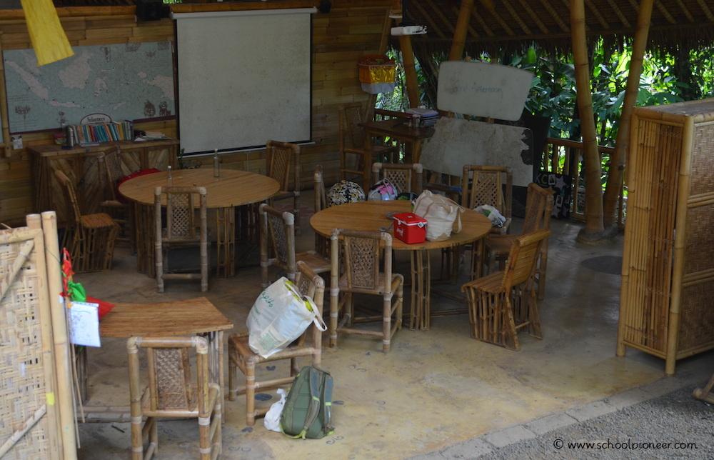 Grüne-Einrichtung-Klassenzimmer-Green-School-Bali