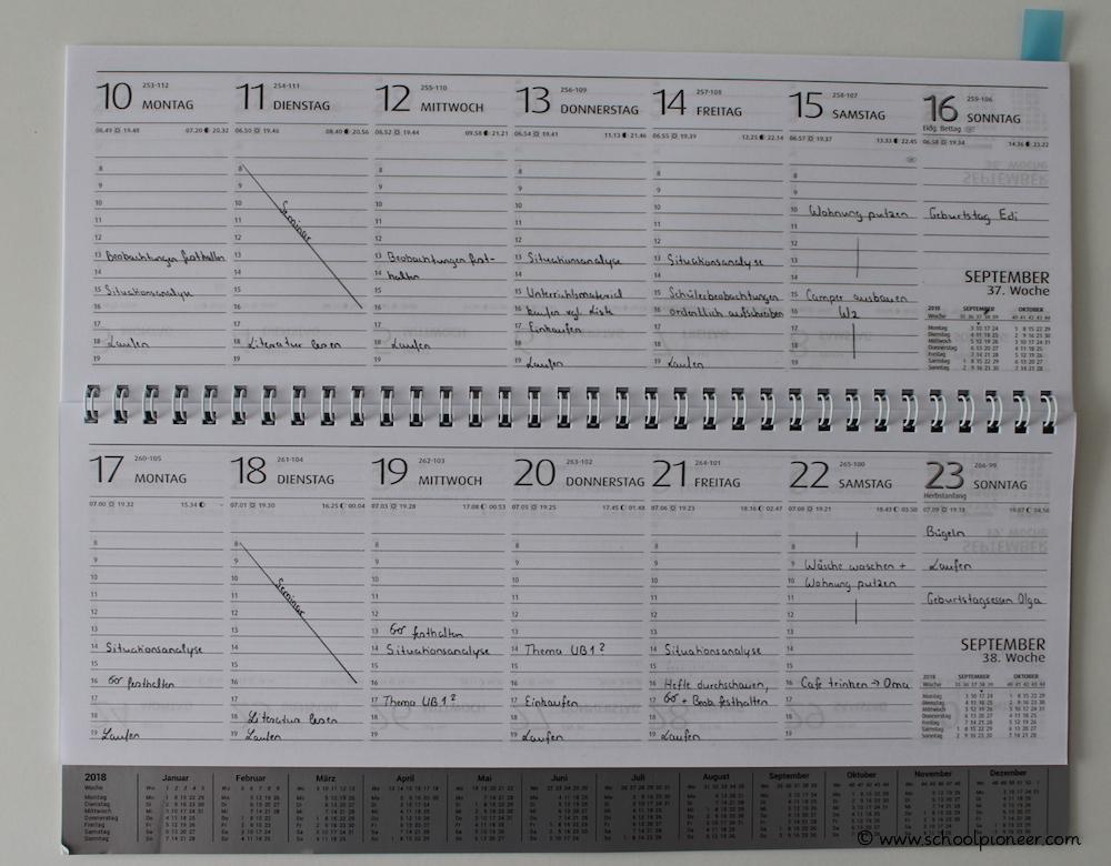 Tischkalender-Planung-Termine-Vorbereitungsdienst