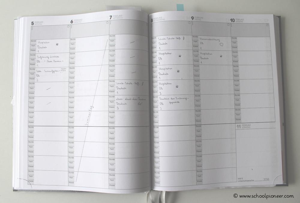 Lehrerkalender-Wochenübersicht-Grundschule-Vorbereitungsdienst