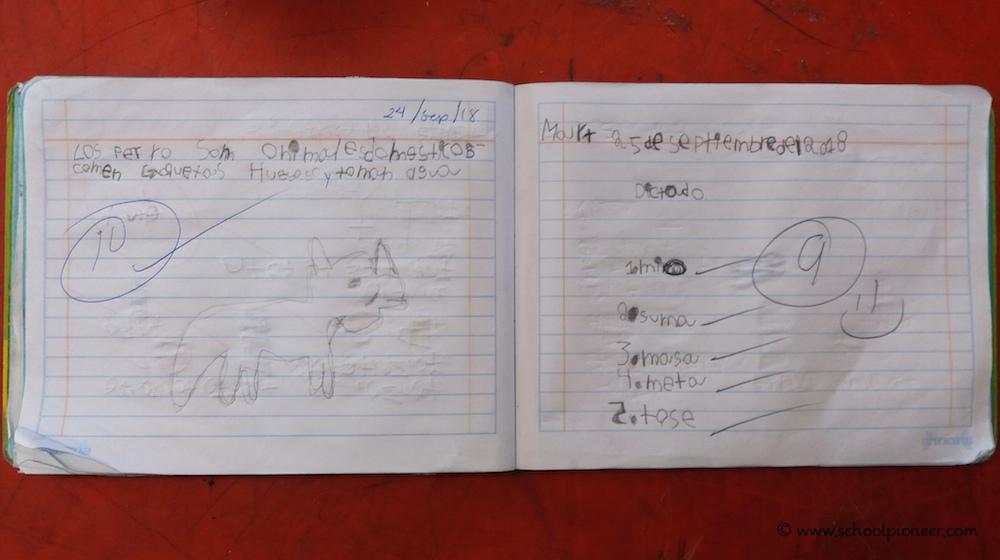 Benotung-Diktat-Erste-Klasse-Grundschule-Mexiko
