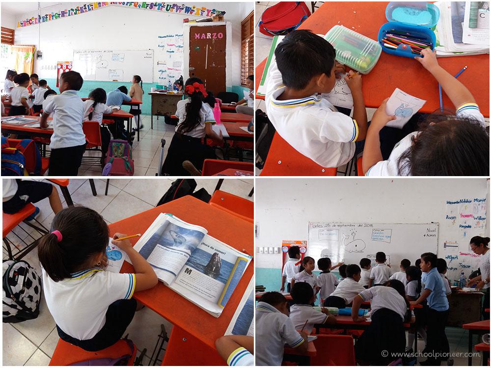 Arbeitsphase-Unterrichtsstörungen-Klassenzimmer-Grundschule-Mexiko