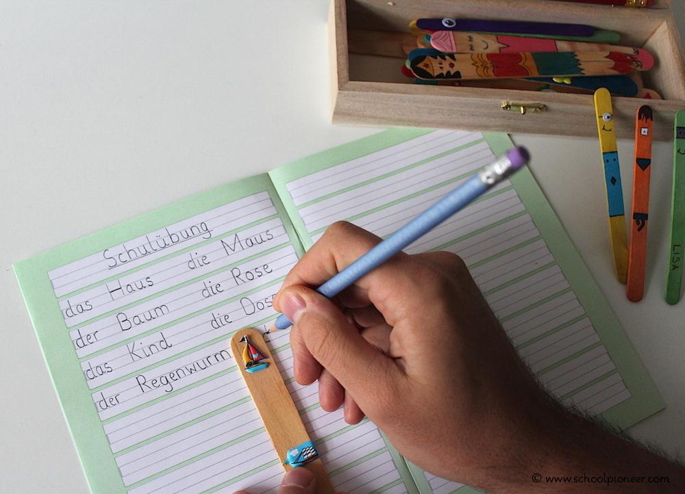 Leerzeichen-Stäbchen-Wortabstände-einhalten-Schreiben-Grundschule