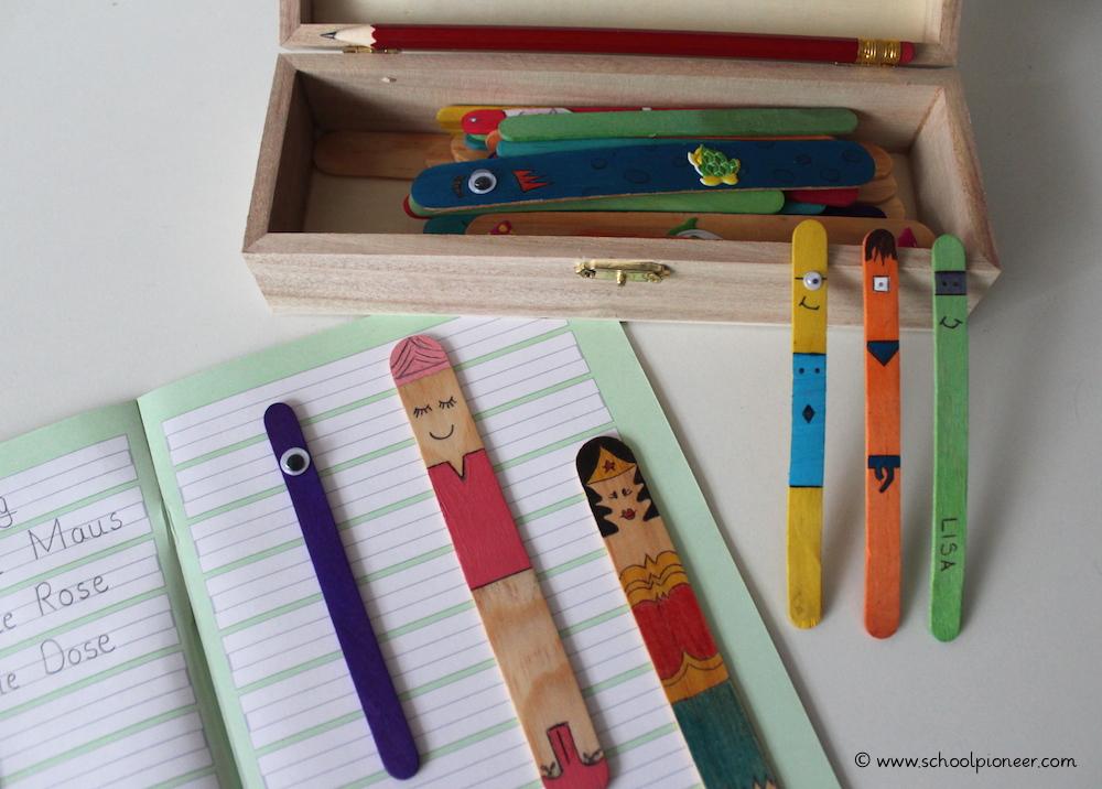 Leerzeichen-Stäbchen-verschiedene-Designs-Wortabstände-einhalten-Schreiben-Grundschule