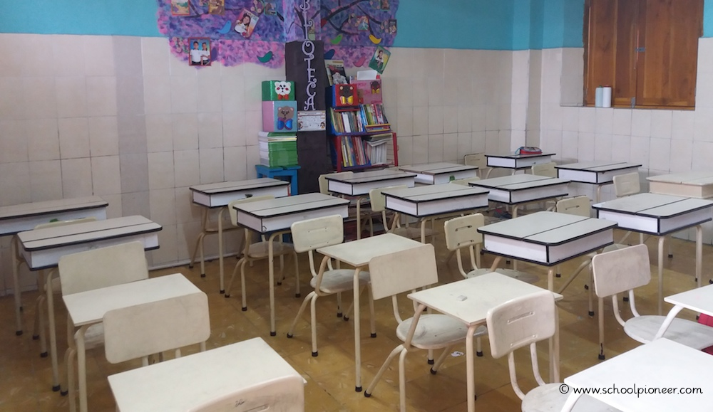 Klassenzimmer-Privatschule-Mexiko