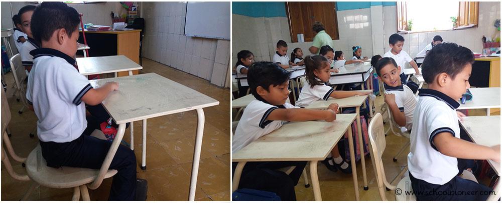 Tische-putzen-Werteerziehung-Grundschule-Mexiko