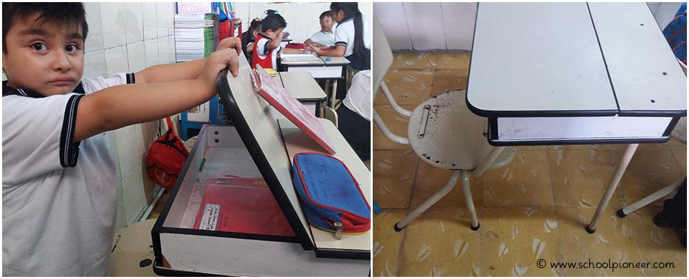 Tisch-Bank-Verbindung-Privatschule-Grundschule-Mexiko