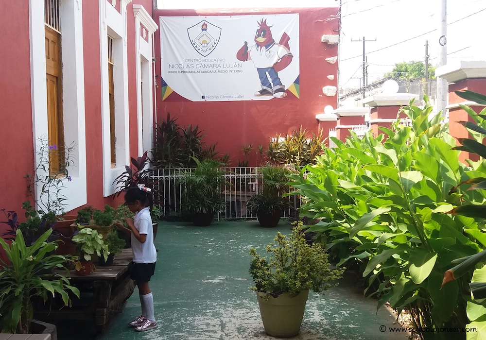 Schulgelände-Privatschule-Mexiko