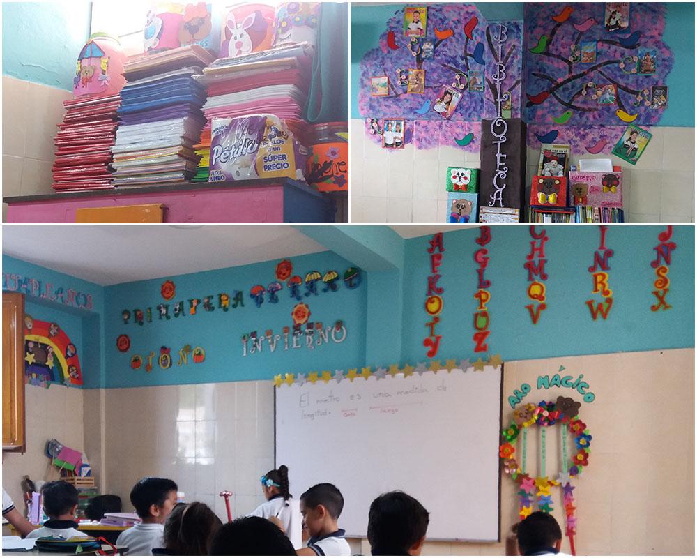 Moosgummi-Bastelarbeiten-Klassenzimmer-Klassenlehrerin-Grundschule-Privatschule-Mexiko