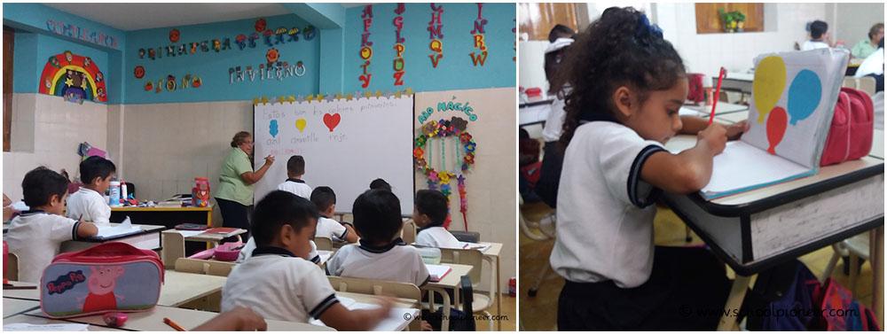 Primärfarben-Tafelbild-Grundschule-Privatschule-Mexiko