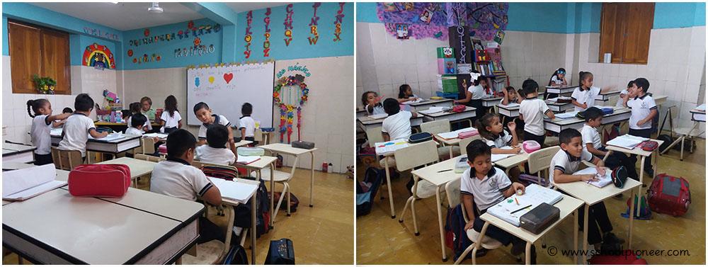 Kontrolle-der-Schülerarbeiten-Unterricht-Grundschule-Privatschule-Mexiko