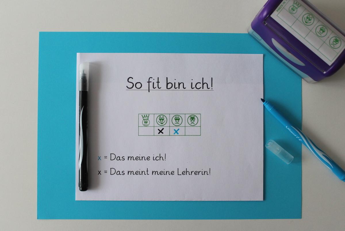 Smiley-Stempel-Leistungstendenzen-ersichtlich-machen-Selbstreflexion-Grundschule