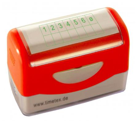 Timetex-Siebdruck-Stempel-Perpetuum-Notenspiegel