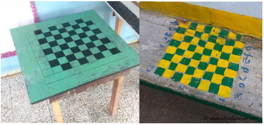 Schachtisch-Schachbrettfeld-Kuba-Grundschule