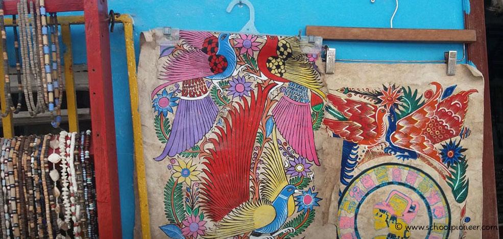 Klemmkleiderbügel-Mexiko-Gemälde